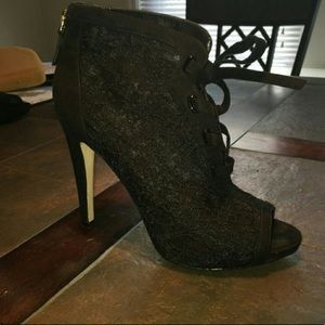 b75fbc447ad1 Nine West Lace-Up Booties